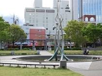 【諏訪公園】ホテルの東側の公園です。徒歩2分ですので散策にどうぞ。
