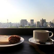 【スカイバンケット】朝のコーヒーもカウンターで楽しめます