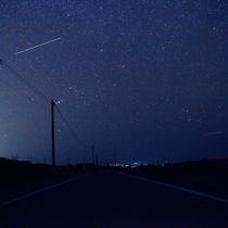ナイトウォーキング:満天の星空の中流れ星!