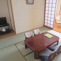【和室8畳一例】落ち着いた畳のお部屋です