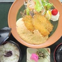 【ヤマメのフライ定食】吉和の清流で育ったヤマメです
