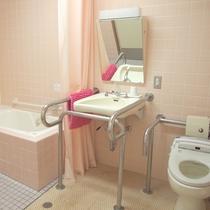 *【洋室8畳一例】バリアフリー仕様のバストイレを完備