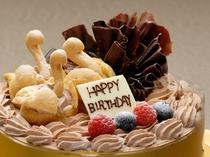人気のチョコレート・デコレーションケーキ。直径15・18・21・24cmからサイズをお選び頂けます。