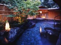 山林に囲まれ野趣に富んだ露天風呂【星の湯】。