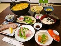静岡満喫プランのお食事一例