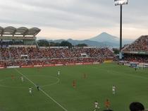 スタジアムからも富士山が!
