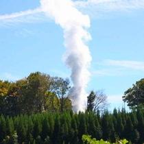 源泉の貯湯タンクです。源泉温度は99度の高温泉です。