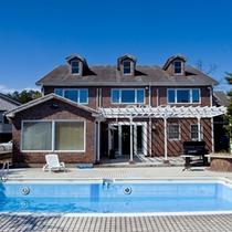 *【外観】プール付き一棟貸しの別荘