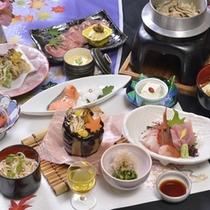 *【秋の夕食例】地元の食材をふんだんに使用しております。