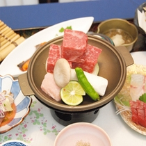 *【仙台黒毛和牛陶板焼き】柔らかな食感に舌鼓♪美味しいお肉を堪能。