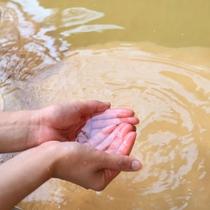 【湧き出る温泉】肌にもやさしいと評判のお湯です。