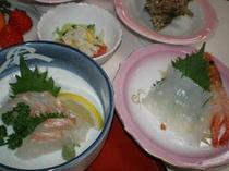 鮮魚のお刺身会席料理