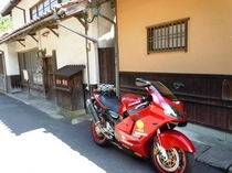 バイク石見銀山にて