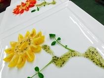 絵画の様な前菜