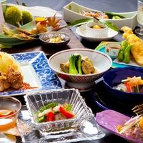 【会席一例】旬な食材と豊後の幸を使用した会席です。※季節により内容が変更いたします。