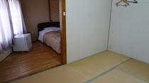 本館シングル(ベッドと和室)