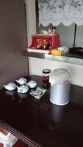 食堂のお茶セット