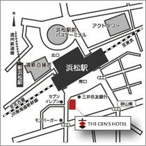 【アクセスマップ】浜松駅南口よりわずか徒歩45秒の好立地です