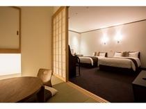 プレミアムルーム和洋室 最大4名様ご宿泊可能!