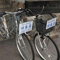 【レンタル自転車】宿泊の方は1時間は無料で貸出。諏訪湖サイクリングにおすすめです。