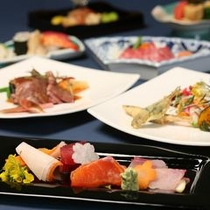 【和洋折衷料理】四季折々の食材を盛り込んだ料理をご賞味下さい。旬な食材を吟味してます。