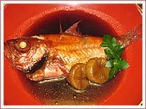 愛情いっぱいの金目鯛の煮つけ