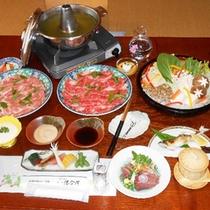 *【夕食一例】地元、掛川産のお茶を使った『お茶しゃぶしゃぶ』です。