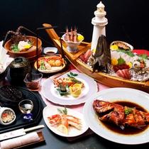お料理一例【橙光】クエと伊勢海老