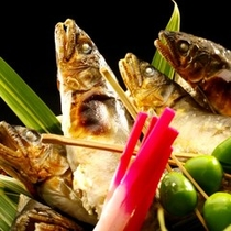 天然鮎料理 一例