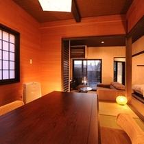 ■離れ和洋室【中車】和室に朱を取り入れた、和情緒溢れる意匠が光るお部屋です。