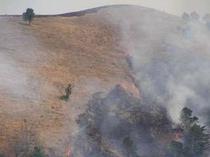 18. 3月22日。晴天。山肌を駆け上がる炎。