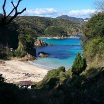 *【下田九十浜】穴場的な存在の海水浴場です。