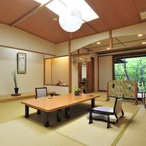*【客室例】【蘭の間】広々とした空間でゆったりとした時間をお過ごし下さい。