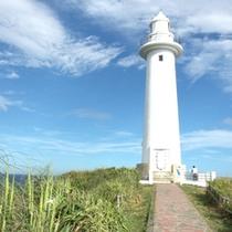 *【下田爪木崎】陽の光を受ける白亜の灯台