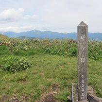 経ヶ岳ー山頂より白山連峰を望む