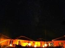 あしび庭から見る満点の夜空