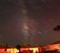 夜空に輝く満天の星たち