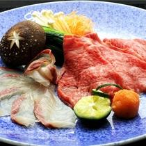 「鳥取和牛VS本日のお魚」しゃぶしゃぶ対決