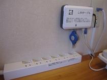 有線LAN&6口コンセント