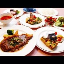 【ご夕食】味にも量にも満足いただけるように心を込めて作ってます!人気の欧風ディナー一例