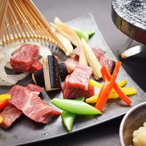 足柄牛の石焼ステーキ
