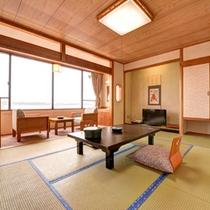 *別館和室(客室一例)/全室オーシャンビュー。日間賀島の海に癒されるひと時をお過ごし下さい。
