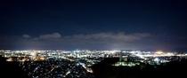 【客室廊下側からの夜景イメージ】