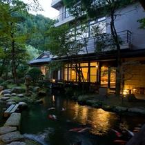 ●夕暮れ庭から見るやまぼうし