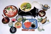 夕食の合鴨鍋