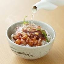 【朝食】朝からつ茶漬け②