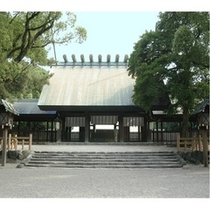 【熱田神宮】ホテルから電車で25分。JR刈谷駅~熱田駅下車