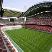 【豊田スタジアム】車で約45分。最大収容人数4万5千人の球技専用スタジアム。