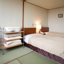 【快眠ルーム】ベットの硬さ・枕の種類・快眠アロマを選べる快眠ルーム(一例)