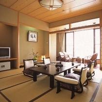 ゆとりの和空間 新館12,5畳 和室 海を一望するゆとりの和空間でゆっくりと過ごす